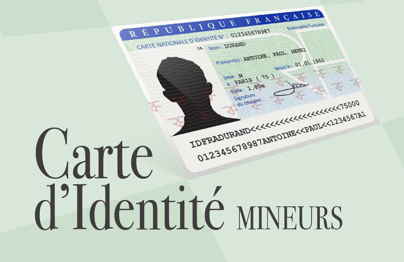 carte d identité périmée mineur Carte d'identité pour un mineur   Cloyes Les Trois Rivières