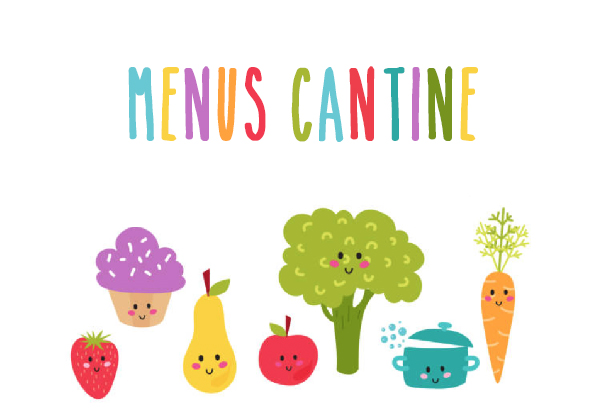 Les menus des cantines - Cloyes-Les-Trois-Rivières