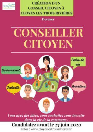 Création d'un Conseil Citoyen à Cloyes les Trois Rivières